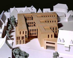 Architekturmodell Entwurf Sparkasse Emsland, 1. Preis