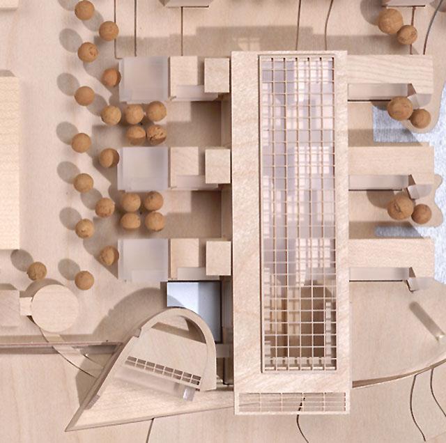 Architekturmodell zum DVG-Entwurf