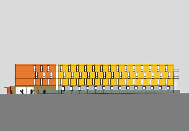 Entwurfszeichnung Holiday Inn Rostock